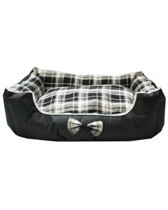 Petsworld Dual Side Use Waterproof Canvas & Clothing Dog Bed Black Large