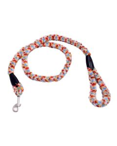 Petsworld Extra Soft Grip Fur Dog Leash Accessories With Brass Snap Hook For Puppy (Multi-Colour)