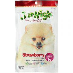 Jerhigh Dog Treats Strawberry 70 gms
