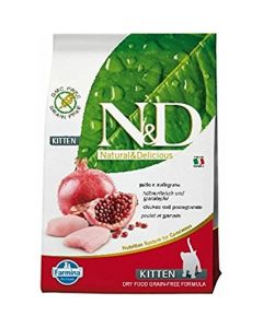 Farmina N&D Grain Free Chicken & Pomegranate Kitten Food 1.5 Kg
