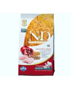Farmina N&D Low Grain Chicken & Pomegranate Medium Puppy Dog Food 0.8 Kg