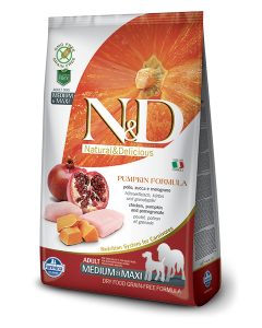 Farmina N&D Grain Free Chicken & Pomegranate Adult Dog Food 2.5 Kg ( Medium and Maxi)