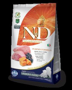 Farmina N&D Pumpkin Grain Free Lamb and Blueberry Puppy Dog Food, 12 kg (Medium & Maxi)