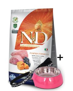 Farmina N&D Pumpkin Grain Free Lamb and Blueberry Puppy Dog Food 12 kg Medium & Maxi Breed With Gifts*