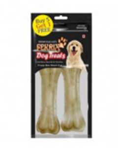 "FEKRIX Extra Large Bone Natural 10"" 2 Pc"
