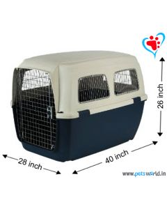 IATA Approved Fibre Flight Dog Crate - LxBxH : 100 x 70 x 65 cm ( 40x28x26 inch)