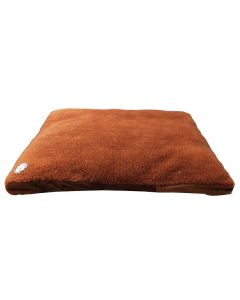 Petsworld Flat Soft Bed For Dogs Brown Small