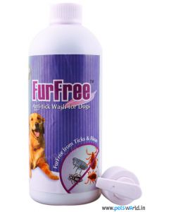Venkys FurFree Anti-tick Shampoo for Dogs 450ml