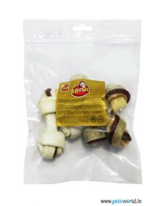 "Gnawlers 4"" Knotted Bone 220 gms"