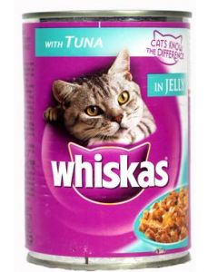 Whiskas Tuna in Jelly Can 400 gms