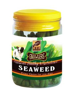 Gnawlers Puppy Treats  Seaweed Jar 180 gms