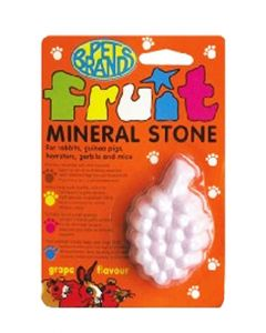 Pet Brands Fruit Mineral Stone For Small Pets Grape Flavour