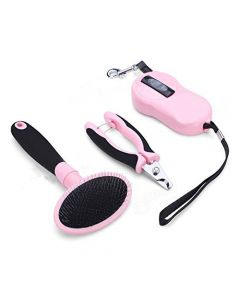 Petsworld Dog Grooming Kit Pink with leash
