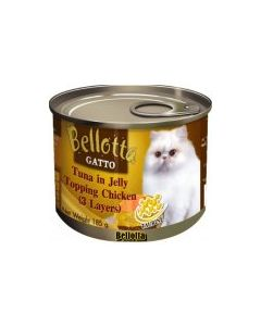 Bellotta Gatto Tuna in Jelly Topping Chicken (3 Layers) Canned Cat Food 185 gm
