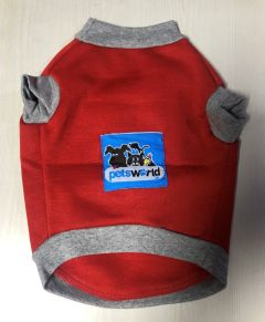 Petsworld  T Shirts for Dogs Red Size  14