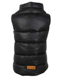 Petsworld Half Sleeve Winter Puff Jacket For Dogs Size 26 Black