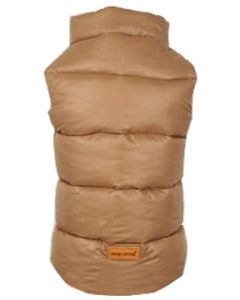 Petsworld Half Sleeve Winter Puff Jacket For Dogs Size 30 Brown