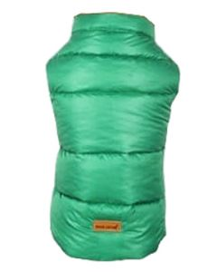 Petsworld Half Sleeve Winter Puff Jacket For Dogs Size 30 Green