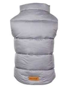 Petsworld Half Sleeve Winter Puff Jacket For Dogs Size 26 Grey