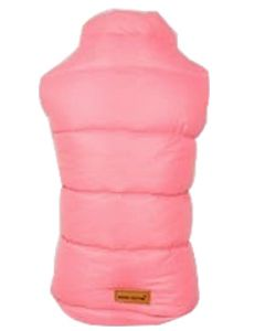Petsworld Half Sleeve Winter Puff Jacket For Dogs Size 30 Pink