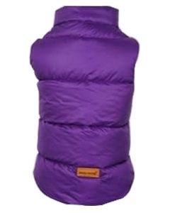 Petsworld Half Sleeve Winter Puff Jacket For Dogs Size 16 Purple