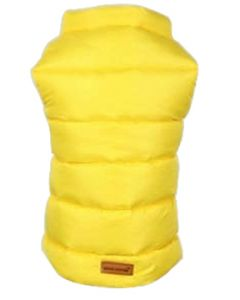 Petsworld Half Sleeve Winter Puff Jacket For Dogs Size 14 Yellow