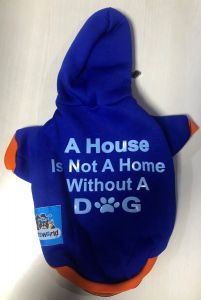 Petsworld Hoodie T Shirts for Dogs Blue Size 10