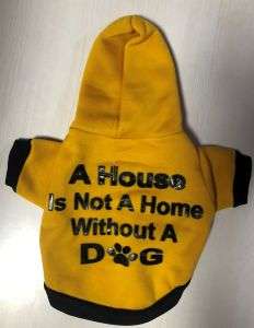 Petsworld Hoodie T Shirts for Dogs Yellow  Size 10
