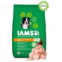 IAMS Proactive Health Adult Small & Medium Breed Dogs (1+ Years) Dry Dog Food, 1.5 kg