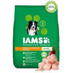 IAMS Proactive Health Adult Small & Medium Breed Dogs (1+ Years) Dry Dog Food, 3 kg