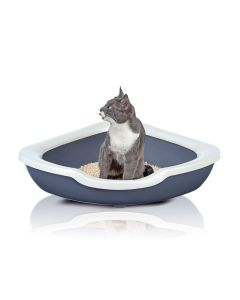 Imac Fred Cat Litter Tray Triangular Assorted - LxBxH : 50x50x15 cm (20x20x6 inch)