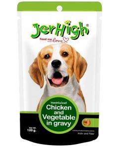 Jerhigh Chicken And Vegetable in Gravy Dog Food 120 gms