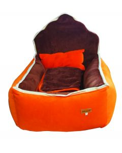Petsworld Kings Bed for Dog Orange and Purple Small