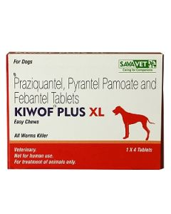Savavet Kiwof Dewormer for Dogs 4 Tablets for XL