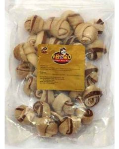 "Gnawlers Dog Treats Knotted Bones 2.5"" 60 gms"