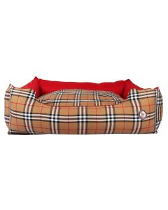 Petsworld Smart Dog Reversible Bed with Check Medium