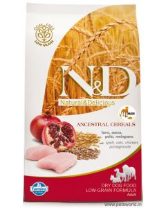 Farmina N&D Low Grain  Chicken & Pomegranate Adult Maxi Dog Food 2.5 kg