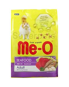 Me-O Adult Cat Food Seafood Flavour 450 Gm