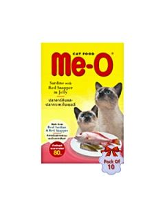 Me-O Pouch Cat Food  Red Snapper In Jelly 80 gms