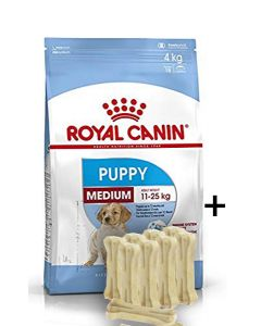 Royal Canin Medium Puppy 4 kg With Free Gifts*