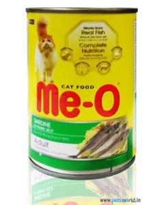 MeO Sardine in Jelly Adult Cat Can Food 400 gms