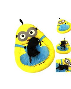 Petsworld Minion Dog Bed With Chew Proof Fabric Large