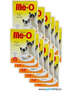 MeO Mackerel in Jelly Gravy Cat Food 12 Pcs