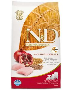 Farmina N&D Low Grain Chicken & Pomegranate  Adult Dog Food 0.8 kg ( Mini)