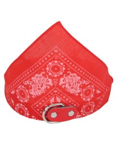 Petsworld Nylon Adjustable Neck Scarf Neckerchief Bandana Collar for Dogs Puppy and Small Cats (Red)