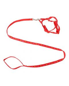 Petsworld Dog Cat Adjustable Nylon Puppy Leash Harness Red