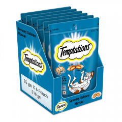 Temptations Cat Treat, Savoury Salmon Flavour 85 gm Pack of 12