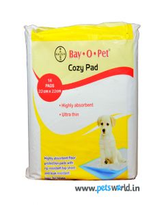 Bayer Bay O Pet Cozy Puppy Training Pad LxW :  55 x 55 cm (22x22 inch) 14 Pads