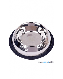 Pets Empire Anti Skid Embossed Dog Feeding Bowl (400 ml)