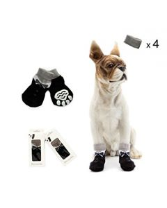 PET BRANDS Dog Socks Non Slip Grey Medium Large